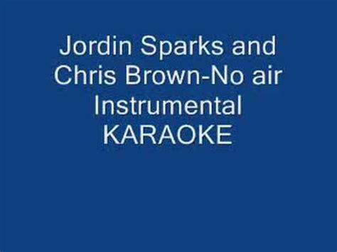 chris brown  jordin sparks  air instrumental karaoke