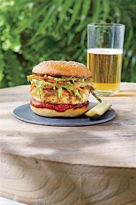 chicken burgers  crazy  southern living