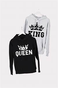 King And Queen Bettwäsche : szabadid fels k szlet kapucnival king queen crown grey black kq ~ Frokenaadalensverden.com Haus und Dekorationen
