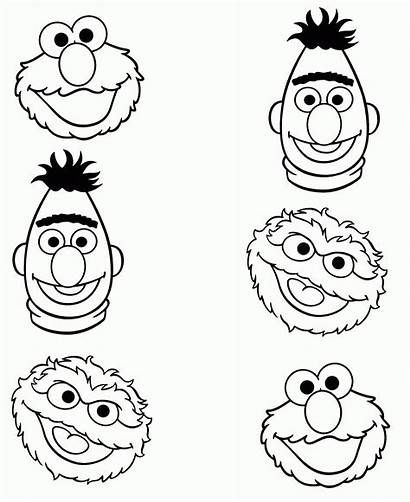 Sesame Coloring Street Printable Faces Face Sheets