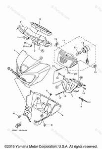 Yamaha Atv 2016 Oem Parts Diagram For Headlight 2