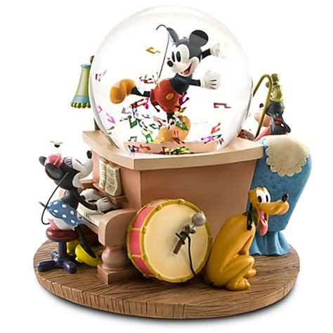 disney mickey mouse friends musical snowglobe christmas
