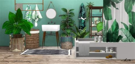 tropical bathroom  viikiitarar future house sims