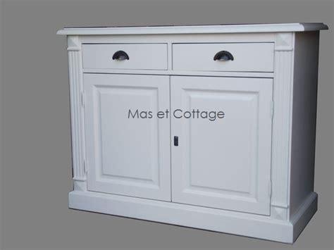 peinture cuisine meuble blanc buffet bas 2 portes pin massif