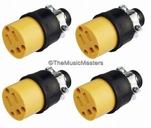 4x Extension Cord Replacement Electrical Ac Power Socket