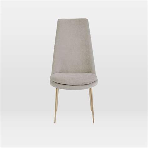 finley high back velvet dining chair west elm
