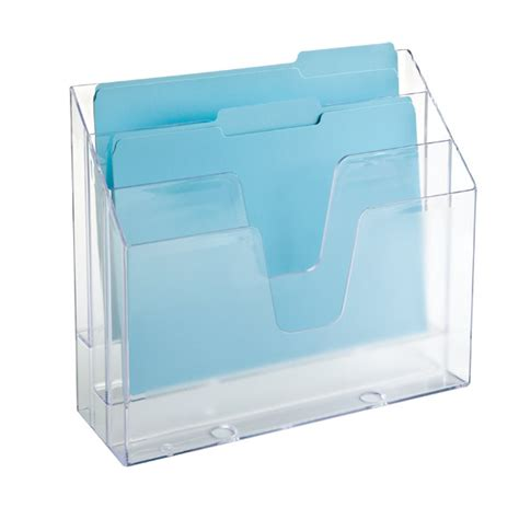 Plastic Desk File Sorter by Clear 3 Section Vertical File The Container Store