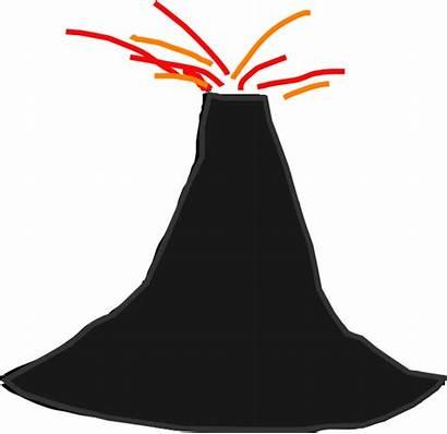 Volcano Clipart Clip Simple Vector Cartoon Cliparts