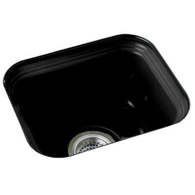 black cast iron kitchen sinks kohler kitchen sinks northland undermount cast iron 15x12 7866