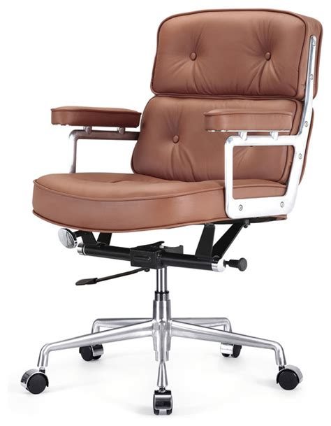 modern leather desk chair italian leather office chair brown contemporary