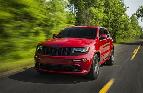 jeep grand cherokee srt red 2015 jeep grand cherokee srt revealed more power
