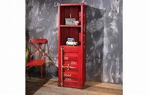 Deco Industrielle Pas Cher : etag res miliboo tag re industrielle m tal rouge cargo ~ Dallasstarsshop.com Idées de Décoration