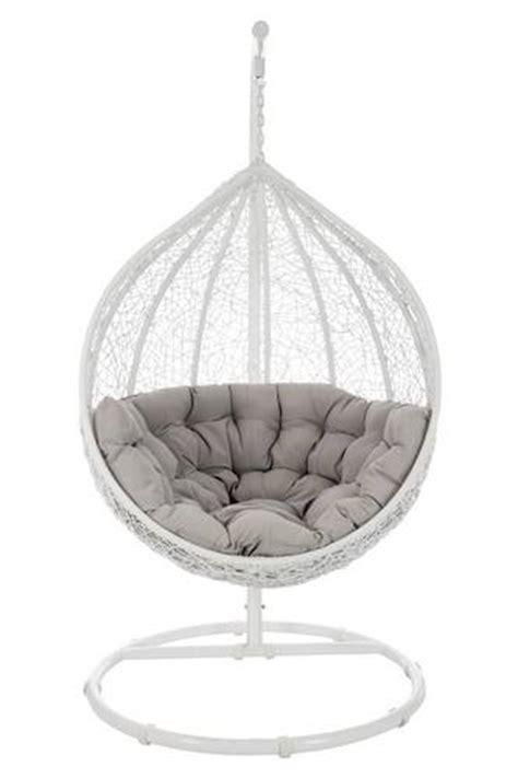 fauteuil oeuf suspendu osier blanc et gris fauteuil fauteuil