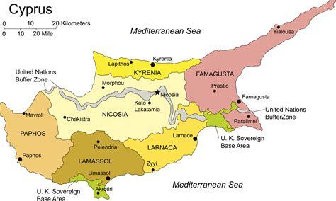 regions  cyprus map