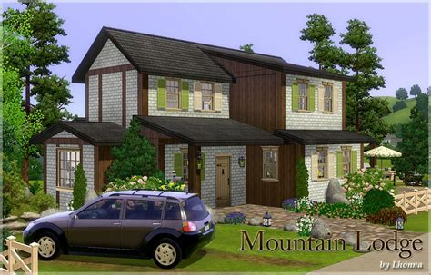 Mod The Sims   Mountain Lodge   traditional house for an