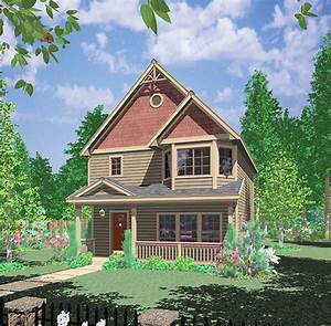 Narrow Lot Northwest House Plan - 38002LB | 2nd Floor ...