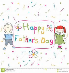 Happy Fathers Day Stock Vector - Image: 41071651