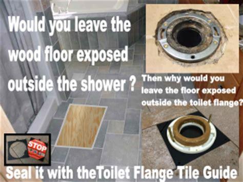 toilet flange tile guide barracuda brackets