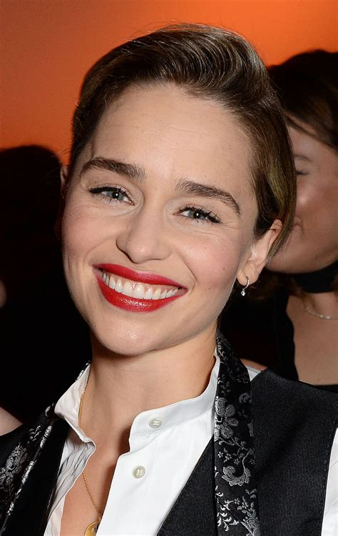 She studied at the drama centre london, appearing in a number of stage productions. EMILIA CLARKE at BFI London Film Festival Awards Party in London 10/20/2018 - HawtCelebs