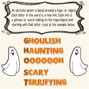 Halloween Acrostic Poems by Halloween Acrostic Poems Classroom Ideas Pinterest