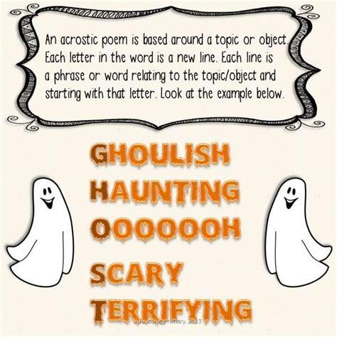 Halloween Acrostic Poem Ideas by Halloween Acrostic Poems Classroom Ideas Pinterest