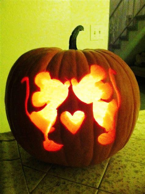 mickey minnie pumpkin carving amazing