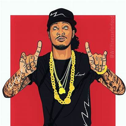 Hop Hip Dope Rapper Future Illustration Trill