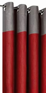 Rideau Gris Et Rouge : rideaux en lin bicolores t te grise ~ Teatrodelosmanantiales.com Idées de Décoration