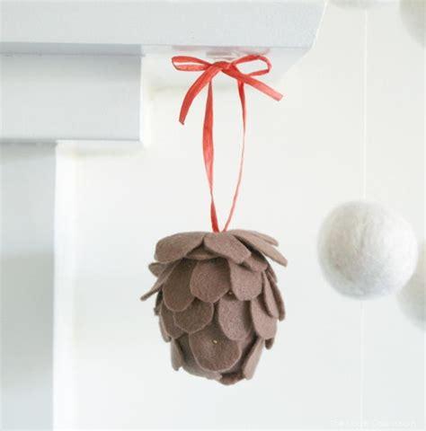 felt pine cone ornament craft allfreechristmascraftscom