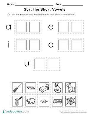 short vowel worksheets kindergarten