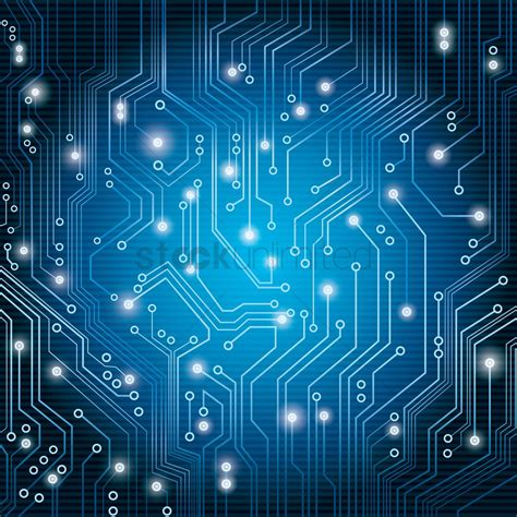 Blue Circuit Board Vector Image Stockunlimited