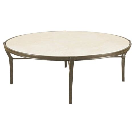 round stone coffee table jane modern french round stone top metal outdoor coffee