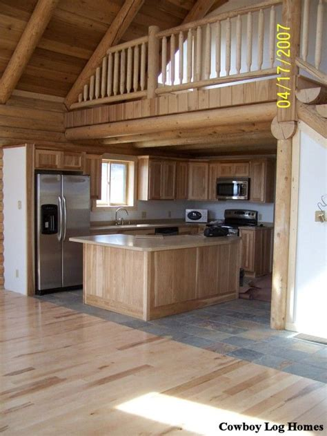 small cabin homes with lofts log cabin loft and kitchen