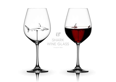 Kitchen Kaboodle Wine Glasses by Shark Wine Glass Concept Ideas Product Design Work