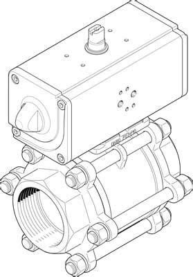 Festo VZBA-4'-GG-63-T-22-F10-& 1809661 | Festo Ball Valves