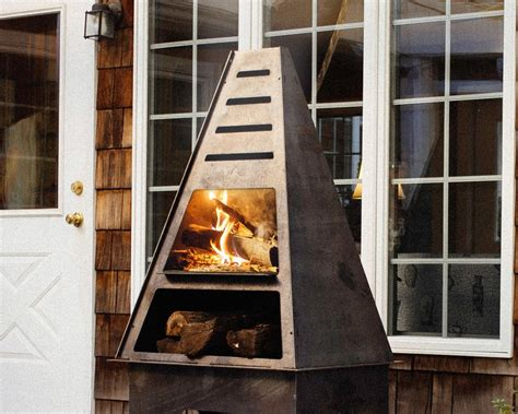 Metal Chiminea Lowes by Pyro Tower Metal Chiminea Outdoor Fireplaces Made In Usa