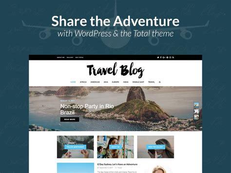 Total Travel Blog Website Design by WPExplorer on Dribbble