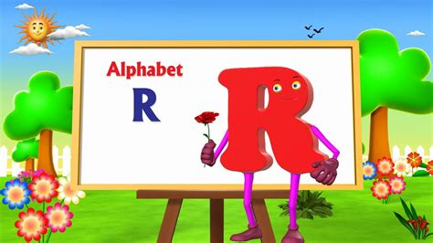 letter r song letter r song 3d animation learning alphabet abc 33429