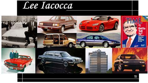 Chrysler Iacocca by Iacocca El H 233 Roe Que Salv 243 A Chrysler Y Ford Propio