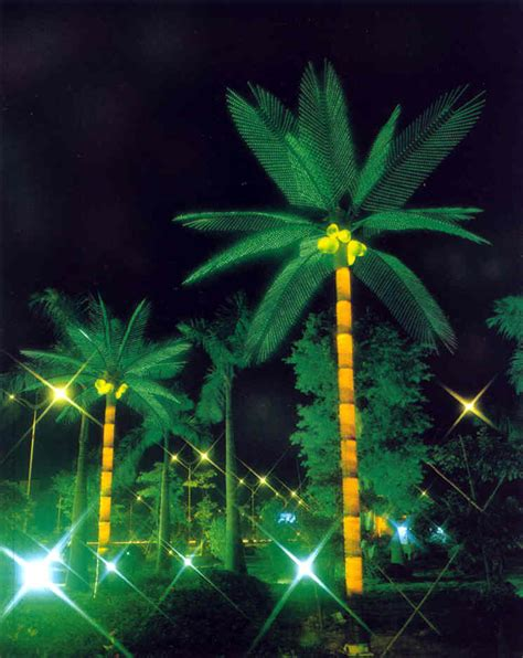 lighted palm trees trees at katy perry buzz