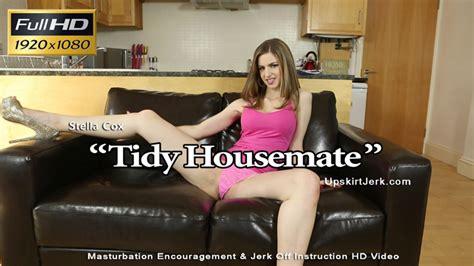 stella cox tidy housemate upskirt jerk