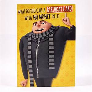 Humour Birthday Card – Despicable Me - Gru | Card Factory