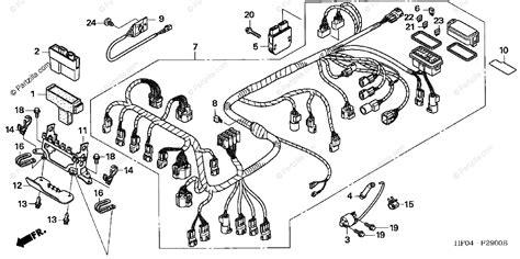 Honda Atv Oem Parts Diagram For Wire Harness