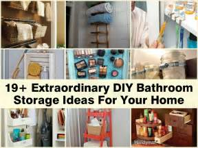apartment bathroom storage ideas 19 extraordinary diy bathroom storage ideas for your home