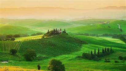 Tuscany Desktop Farm Italy Wallpapers Field Backgrounds