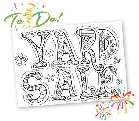 yard sale printables craigslist