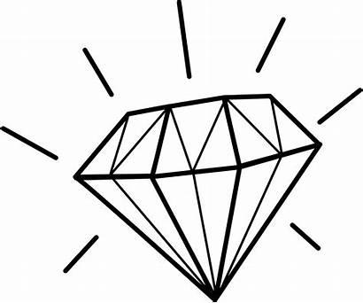 Diamond Clip Clipart Diamant Diamonds Silhouette Drawing