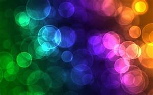 Neon Bubbles 3D and CG & Abstract Background Wallpapers