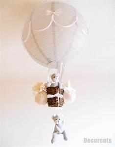 Lustre Montgolfière Bebe : lampe montgolfi re blanc enfant mixte enfant b b luminaire enfant b b decoroots ~ Teatrodelosmanantiales.com Idées de Décoration