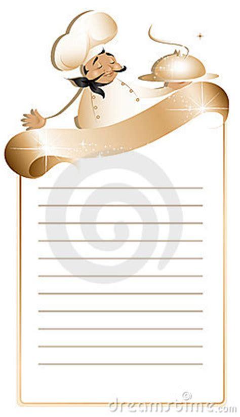 recipe  menu template stock image image